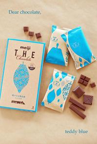 meiji THE chocolate  THE チョコレート - teddy blue