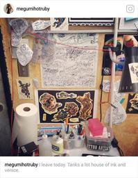 Instagram59 ありがとうVenice Beach - RUBY'S ROOM 女性彫師megumi's Blog(HotRubyTattoo)