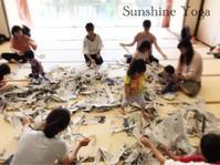 びりびり新聞紙の中で - Sunshine Places☆葛飾  ヨーガ、マレーシア式ボディトリートメントやミュージック・ケアなどの日々