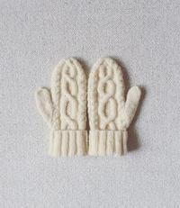 アランの手紡ぎミトン - soramame mitten