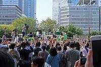 衆院選3日目東京入管抗議防衛省抗議MX「ニュース女子」抗議行動24 - ムキンポの亀尻ブログ