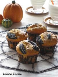 ハロウィンに☆ かぼちゃと胡桃のオレオマフィン・・・掲載していただきました♪ - Cache-Cache+