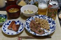 鯖味醂干し&お肉の残り - おいしい日記