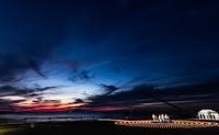 千里浜のお祭りでナイヤガラの滝花火を見てきた。 - フユビヨリ
