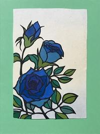 青いバラ - おどるねこ