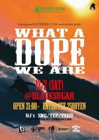 "2017.12.02.SAT│- homegrow Prereason party - ""What a DOPE! We are"" @BlackSugar - CENDRILLON+"