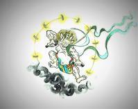 《暦『十一月霜月』―――「風神雷神」》 - 画室『游』 croquis・drawing・dessin・sketch