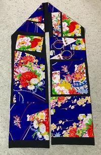 昔の振り袖で作ったストール3枚め - アトリエ A.Y. 洋裁教室