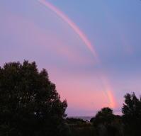 夕焼け空に虹/ Rainbow at Sunset - アメリカからニュージーランドへ