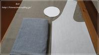 手作り リネンの小さな丸底の大きなバッグの型紙を少し変えてみました♪** - &m   handmade with linen,cotton...