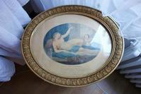 木製金彩楕円額687  Hold - スペイン・バルセロナ・アンティーク gyu's shop