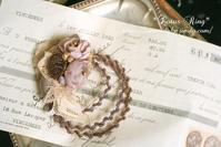 「てのこと」~永遠の花 ヴィンテージガラスビーズ…~  - *Lotus Ring*