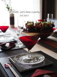 「10月のテーブルコーディネート&おもてなし料理10月のテーブルコーディネート&おもてなし料理レッスン」全日程が終了しました♪ - ATELIER Let's have a party ! (アトリエレッツハブアパーティー)         テーブルコーディネート&おもてなし料理教室