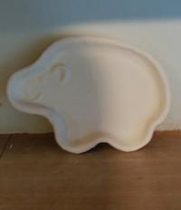 象さんのお皿だよ。 - 陶芸教室 なすびの花