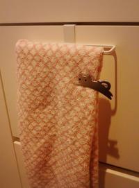 かけたタオルのすべり留め。 - kuniのちくたくノート