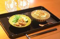 おひとりさまの夕食/鯛の胡麻まぶし/豆腐のみぞれ餡かけ - まほろば食日記
