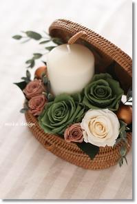 バスケット de キャンドルアレンジ* - Flower letters