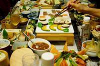 ■続・おもてなしメイン料理④【焼き肉/刺身/特大蕪のそぼろ餡/漬物2種】です。 - 「料理と趣味の部屋」