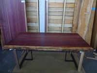 パープルハート一枚板テーブル - SOLiD「無垢材セレクトカタログ」/ 材木店・製材所 新発田屋(シバタヤ)