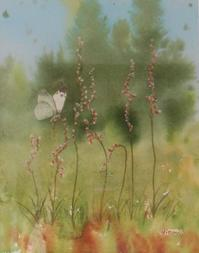 もっぱら野良仕事の秋/ねじ花水彩画 - ポッと出っスけど杉山ひとみ/水彩画ブログ