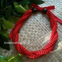 チョーカーアレンジ - manmaru Ribbon ~ Pili aloha Lei Making ~