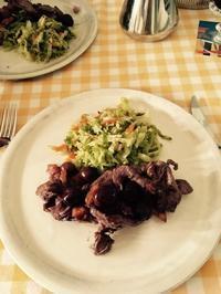 炒めオリーブ応用編 - ローマの台所のまわり