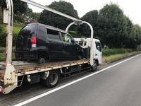 桐生市からタイヤの付いて無い不動車をレッカー車で廃車の出張引き取りしました。 - 廃車戦隊引き取りレンジャー