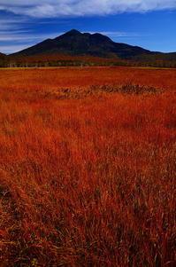 アカネに染まる そして山はそびえる - 風の香に誘われて 風景のふぉと缶