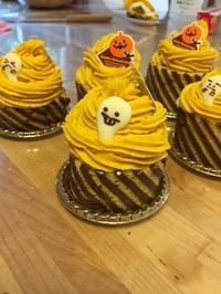 ハロウィンかぼちゃモンブランケーキレッスン - 調布の小さな手作りお菓子・パン教室 アトリエタルトタタン