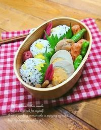 10.30栗おこわおにぎり弁当・冷凍するものしないもの - YUKA'sレシピ♪