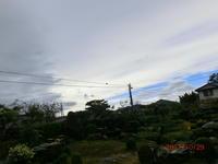 台風22号一過 - 家の周りの季節感