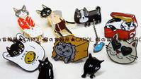 新商品★猫のピンバッチ(ピンズ) はじめました~♪ - 猫の首輪屋★CAROL ~キチコの店長日記~