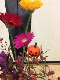 10月秋の花3 - 子供いけばな教室