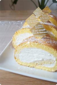 ふわふわのロールケーキを作ってみました。 - ハンドメイド親子お揃い服omusubi-five(オムスビファイブ)