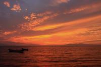 感動的な夕焼け(5)。 - 青い海と空を追いかけて。