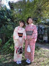 キラキラ眩しい良いお天気です、台湾から来られましたお嬢様たち。 - 京都嵐山 着物レンタル&着付け「遊月」