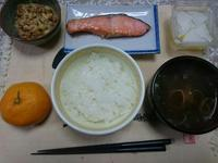 11/4  焼鮭定食@自宅 - 無駄遣いな日々