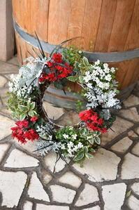 赤いガーデンシクラメンでクリスマスの寄せ植え♪ - 小さな庭 2