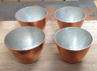 錫引きの銅のコップ4P - 虫と
