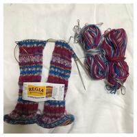 靴下:REGIA スパイラルソックス(1) - よなよな編み物