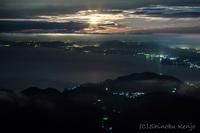 夜の雲仙・妙見岳 - 撃沈風景写真