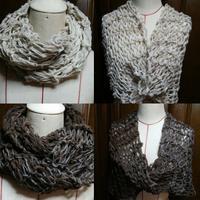 手紡ぎ羊毛のスヌード - natsu なつのまいにち