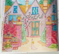 Thank you!! 彩色例の投稿 『ロマンティック・カントリー 』by ma-yaさん - オトナのぬりえ『ひみつの花園』オフィシャル・ブログ