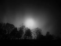 月暈と流れる雲@山伏山頂 - 安倍奥の星空