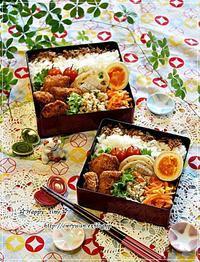 サーモンフライ弁当とわんこと長女のつぶやき♪ - ☆Happy time☆