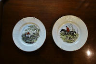 狩りの絵皿2種半額 - スペイン・バルセロナ・アンティーク gyu's shop