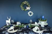 2017年 テーブルレッスン12月はブルークリスマス - 晴れ、ときどき、ufufu