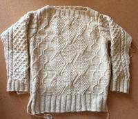 Brooklyn Tweedで編むいろんな四角のアランセーター - のそのそ日記
