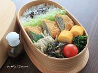 梅紫蘇のミルフィーユカツ弁当 - 男子高校生のお弁当