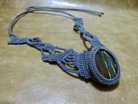 【マクラメ&ヘンプ】#175タイガーアイのネックレス - Shop Gramali Rabiya (SGR)